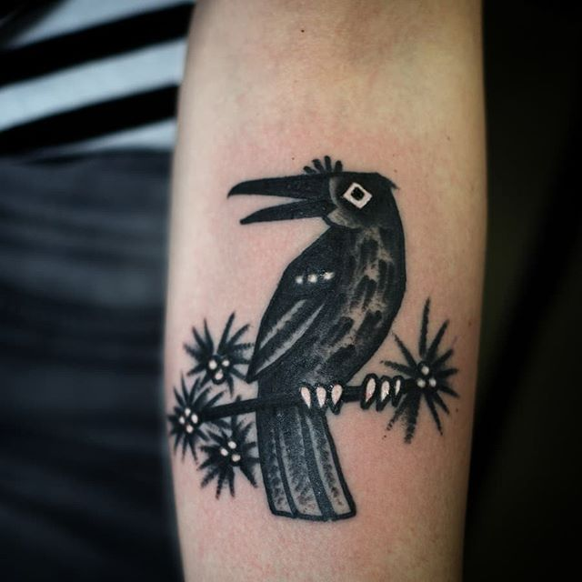 A raven. I have still free time to tattoo before summer! For appointments sonjakappikoo@gmail.com