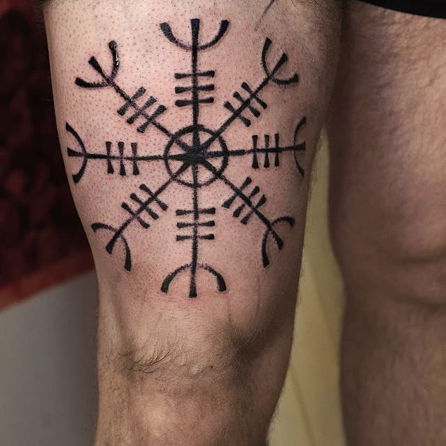 Variation of the Vegvisir. Thank you! ✨  tattoohelsinki